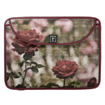 Red Roses Romantic Garden Sleeves For MacBook Pro