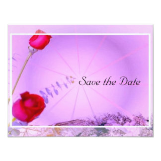Red Roses Save the Date Card