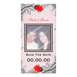Red Roses Save The Date Photo Card