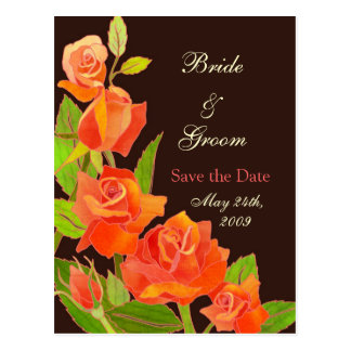 Red Roses: Save the Date Wedding Postcard