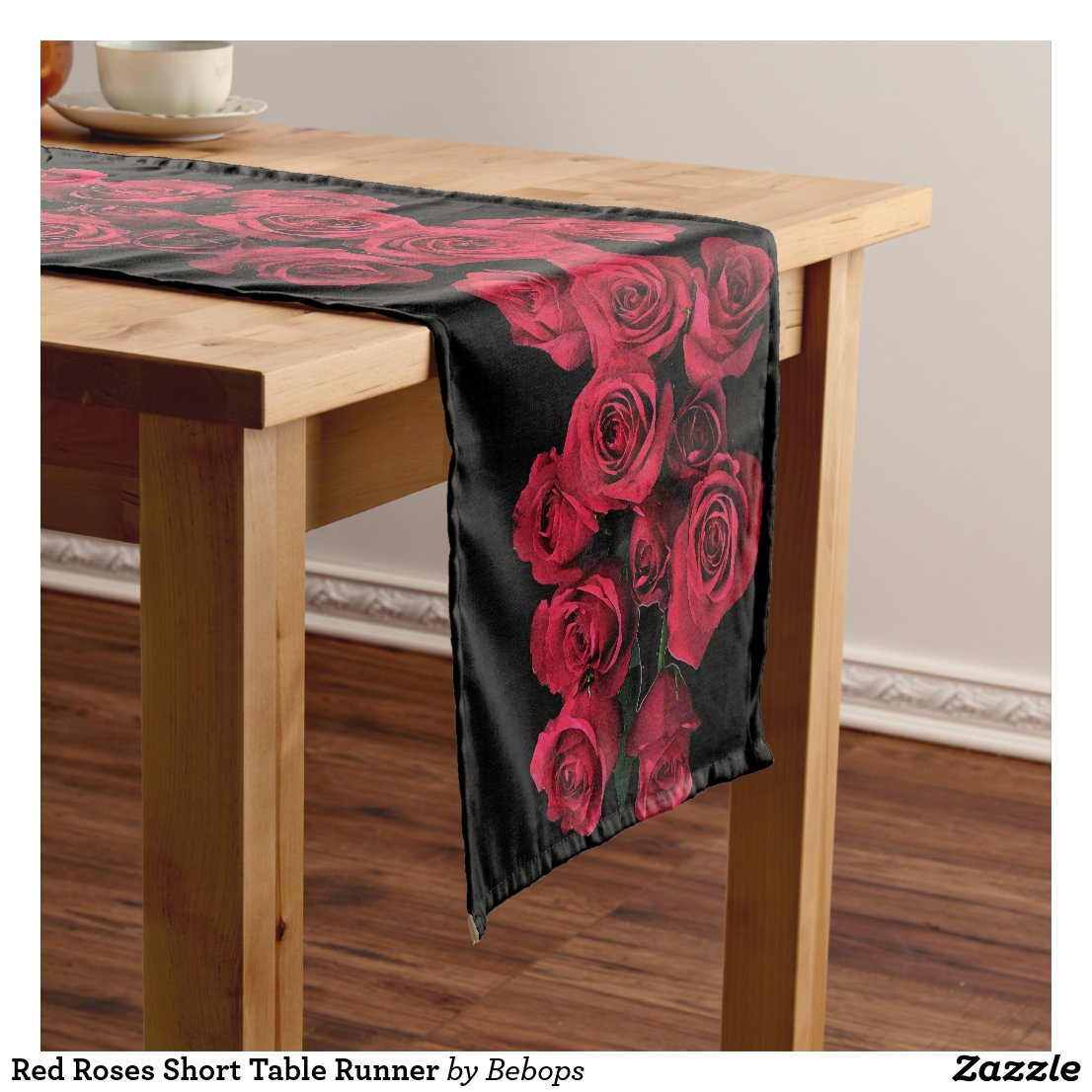 Red Roses Short Table Runner