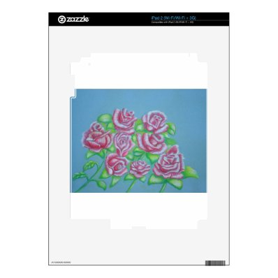 red roses skin for the iPad 2