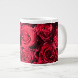 Red roses 20 oz large ceramic coffee mug