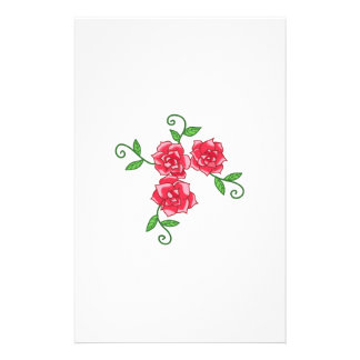 RED ROSES CUSTOMIZED STATIONERY
