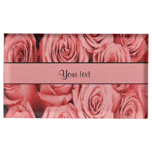 Red Roses Table Number Holder
