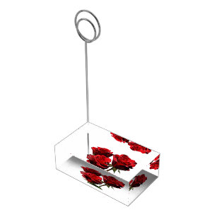 Red Roses Table Place Card Holder