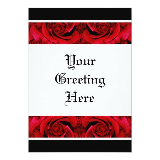 Red roses template - customizable