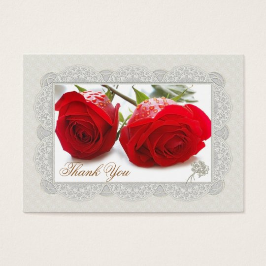 Red roses Thank you Wedding/Gift Tag