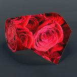 "Red Roses Tie<br><div class=""desc"">romantic elegant bouquet of red roses</div>"