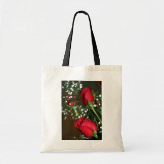 Red Roses Tote Bag Budget Tote Bag