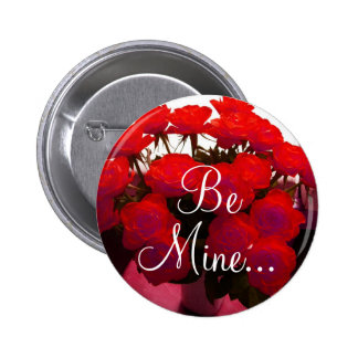 Red Roses Valentine II Button - Customizable