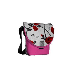 red roses vintage pink romance rickshaw bag courier bag