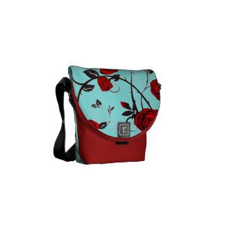 red roses vintage romance rickshaw bag courier bag
