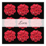 Red Roses Vow Renewal Invitation