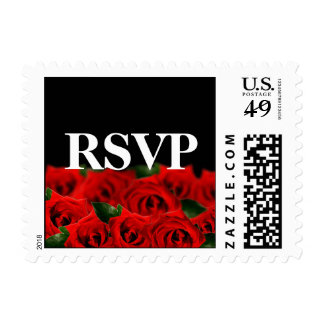 Red Roses Wedding And Party Invites Postage