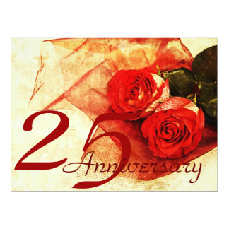 red roses wedding anniversary card