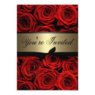 Red Roses Wedding Card