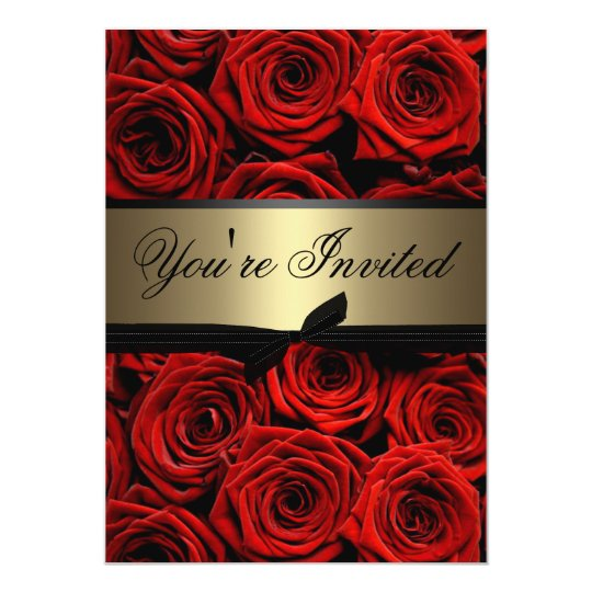 Red Black And Gold Invitations & Announcements | Zazzle