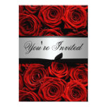 Red Roses Wedding Custom Invitations