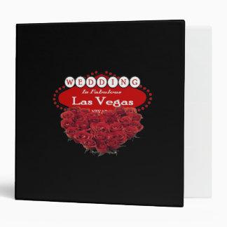 Red Roses Wedding in Las Vegas Album 3 Ring Binder