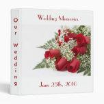 Red Roses Wedding Memories Binder