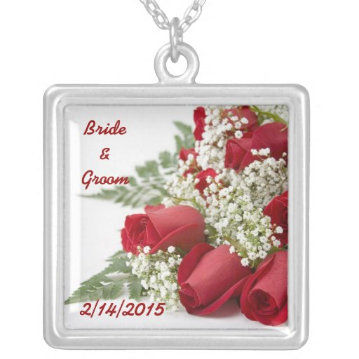 Red Roses Wedding Necklace