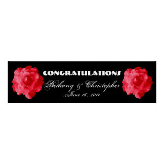 Red Roses Wedding or Engagement Banner V2 Poster