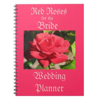 Red Roses Wedding Planner Spiral Notebook