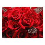 Red Roses Wedding RSVP card 2 Invitations