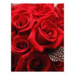 Red Roses Wedding RSVP card Custom Announcement