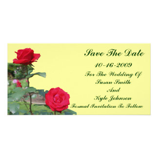 Red Roses Wedding Save The Date Card