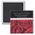 Red Roses Wedding Save the Date Magnet