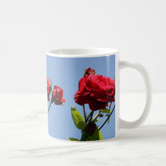 Red Roses with Blue Sky Background Mug