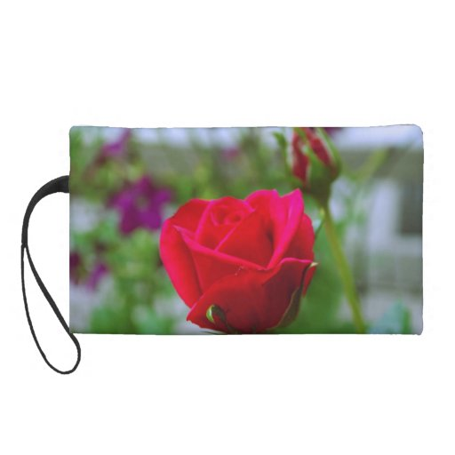 Red Roses Wristlet Clutches