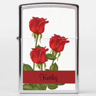 Red Roses Zippo Lighter