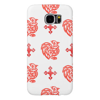Red Roster Samsung Galaxy S6 Case