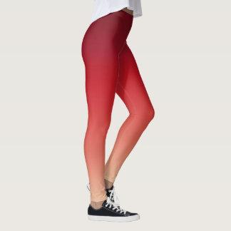 Red Rouge Gradient Leggings