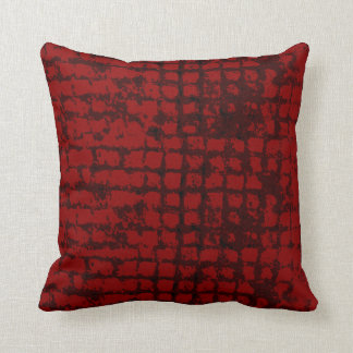 Red rough pattern toned deep red pillow