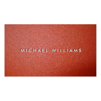 Red rough plastic Double-Sided standard business cards (Pack of 100)
