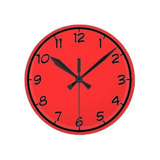 Red Round Clock