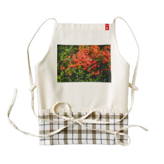 Red round fruits zazzle HEART apron