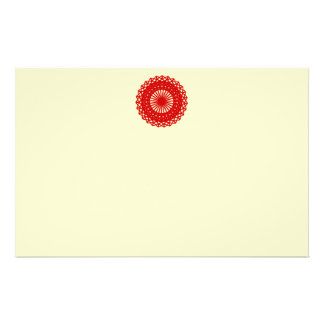 Red Round Lace Pattern Graphic. Flyer