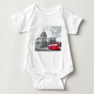 Red Routemaster Baby Bodysuit