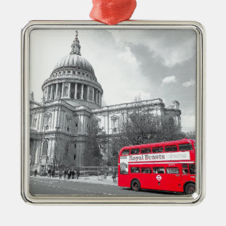 Red Routemaster Metal Ornament