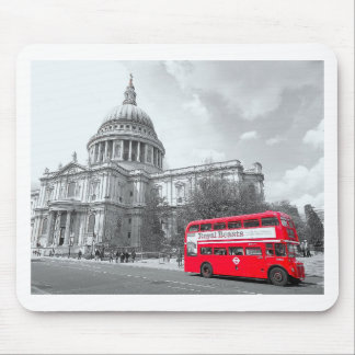 Red Routemaster Mouse Pad