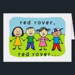 "Red rover 40th birthday card<br><div class=""desc"">kids design</div>"