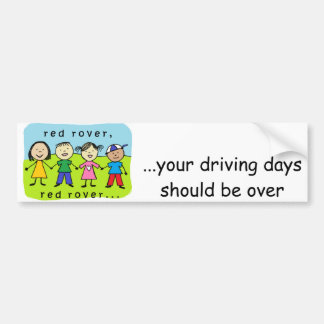 Red rover kids bumper sticker