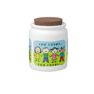 Red rover kids candy dishes