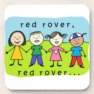 Red rover kids coaster