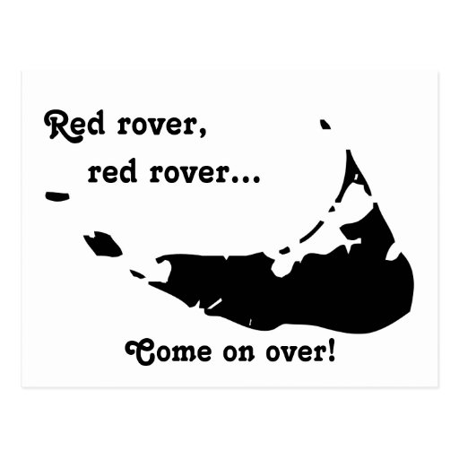 Red rover, red rover... postcard